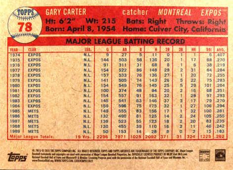 2015 Topps Archives Black #78 Gary Carter 1/1