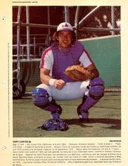 1981 Dimanche/Derniere Heure #GACA Gary Carter (8-1/2X11)