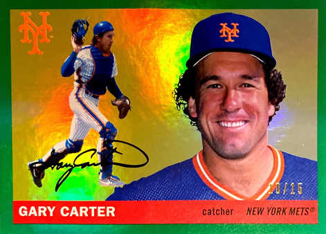 2020 Topps Archives Green Holo #46 Gary Carter/10