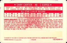 1981 Perma-Graphic All-Stars #1 Gary Carter