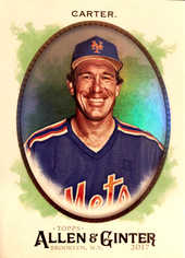 2017 Topps Allen and Ginter Hot Box Foil #324 Gary Carter