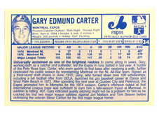 1976 Kellogg's #34 Gary Carter