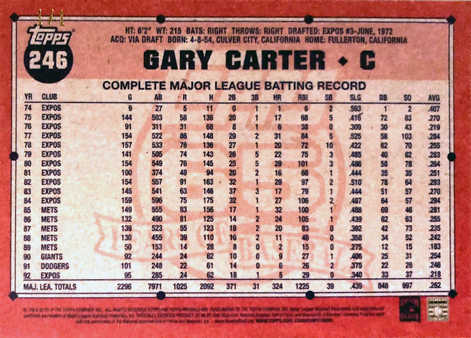 2016 Topps Archives Black #246 Gary Carter 1/1