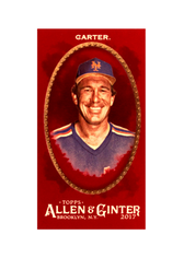 2017 Topps Allen and Ginter X Mini Red #324 Gary Carter /5