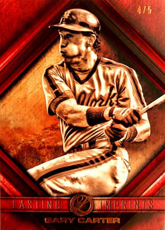 2016 Topps Legacies of Baseball Lasting Imprints Red #LIGC Gary Carter/5