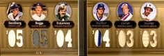 2007 Topps Triple Threads Relics Combos Double Gold #46 Ryne Sandberg/Wade Boggs/Dennis Eckersley/Paul Molitor/Gary Carter/Eddie Murray/9