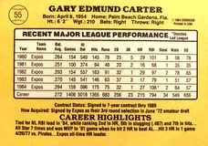 1985 Donruss #55 Gary Carter