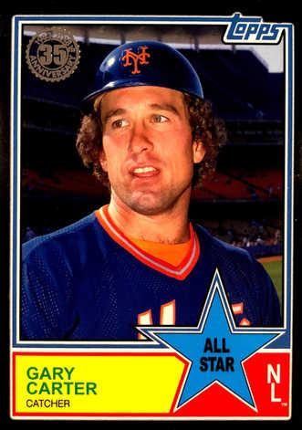 2018 Topps S2 1983 Topps Baseball All Stars Black #83AS73 Gary Carter #/299