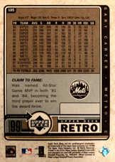 1999 Upper Deck Retro #105 Gary Carter
