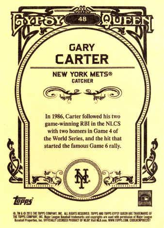 2013 Topps Gypsy Queen White #48 Framed Gary Carter