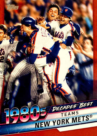 2020 Topps Decades' Best Series 2 Red #DB55 New York Mets/10