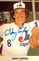 1982 Expos Postcards #4 Gary Carter