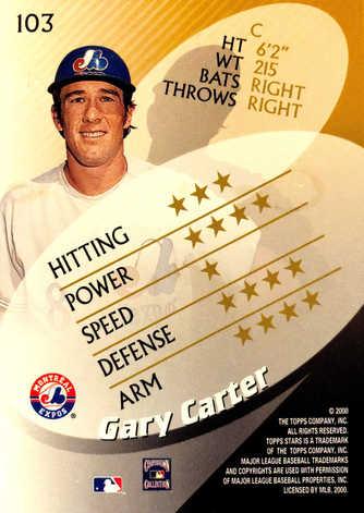 2000 Topps Stars #103 Gary Carter