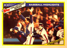 1987 Woolworth's Topps #32 Gary Carter/Mets