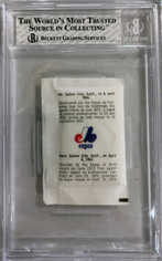 1976 Expos Redpath #4 Gary Carter (Sugar Packet)