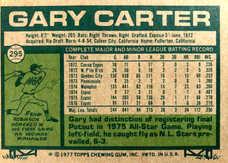 1977 Topps #295 Gary Carter