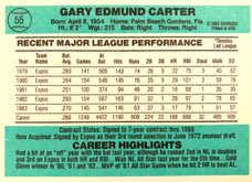 1984 Donruss #55 Gary Carter