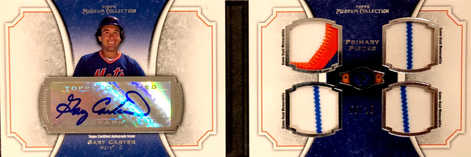 2012 Topps Museum Collection Signature Swatches Quad Relic Autographs #GC Gary Carter/10
