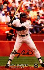 1990 Giants Postcard Gary Carter (Color Batting Stance)