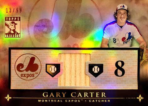 2010 Topps Tribute Relics #GC Gary Carter/99