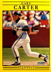 1991 Fleer #258 Gary Carter