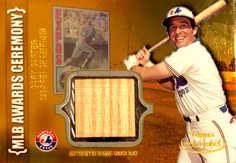 2002 Topps Gold Label MLB Awards Ceremony Relics Gold #GC Gary Carter RBI Bat