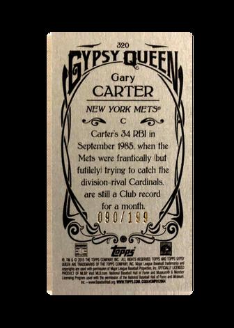2015 Topps Gypsy Queen Mini Silver #320 Gary Carter SP/199
