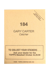 1981 Topps Stickers #184 Gary Carter