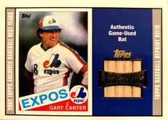 2002 Topps Archives Bat Relics #TBRGC Gary Carter 85 A