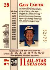 2003 Topps Tribute Perennial All-Star Gold #29 Gary Carter/75