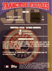 2001 Topps Tribute Franchise Figures Relics #CD Carter/Dawson
