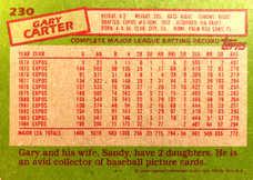 1985 Topps #230 Gary Carter