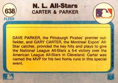 1982 Fleer #638 Gary Carter/D.Parker
