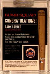 2003 Topps Pristine Bomb Squad Relics Refractors #GC Gary Carter Bat/25