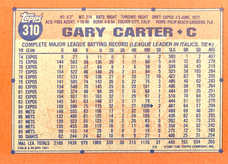 1991 Topps #310 Gary Carter
