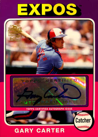 2012 Topps Archives Autographs #GC Gary Carter