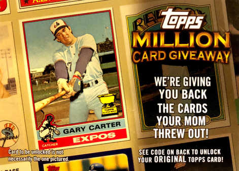 2010 Topps Million Card Giveaway #TMC22  Gary Carter