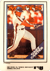 1990-92 R&N China Topps Porcelain Sports Nostalgia Reprints 1988 #530 Gary Carter/1187