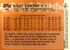 2005 Topps All-Time Fan Favorites Refractors Gold #48 Gary Carter/25