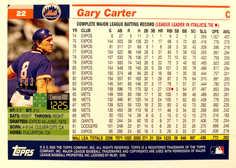 2005 Topps Retired Signature Gold #22 Gary Carter/500