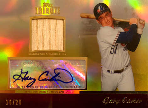 2011 Topps Tribute Autograph Relics Gold #GC1 Gary Carter/20