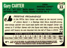 2005 Topps Pristine Legends Refractors #11 Gary Carter/549