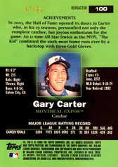 2003 Topps Pristine Refractors #100 Gary Carter/99