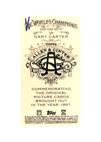 2017 Topps Allen and Ginter X Mini Silver #324 Gary Carter 1/1