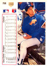 1991 Upper Deck #758 Gary Carter