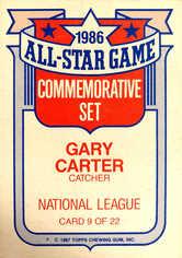 1987 Topps Glossy All-Stars #9 Gary Carter