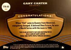 2006 Topps Triple Threads Relic Gold #95 Gary Carter/9