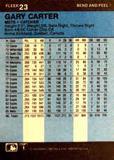 1986 Fleer Star Stickers #23 Gary Carter