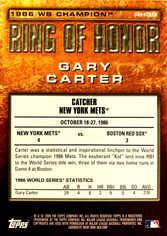 2009 Topps Ring Of Honor #RH39 Gary Carter