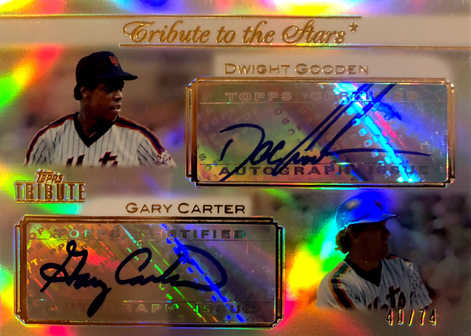2011 Topps Tribute Tribute to the Stars Dual Autographs #GC Dwight Gooden/Gary Carter/74